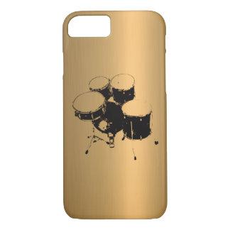 Set Trommel-kupferner Bronzeeffekt iPhone 8/7 Hülle