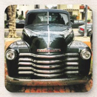 Set von 6 Vintagen Chevy LKW-Untersetzer Getränkeuntersetzer