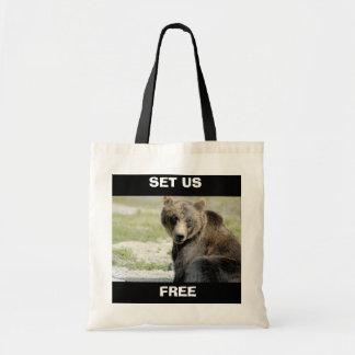 Set wir frei, retten die Bären Budget Stoffbeutel
