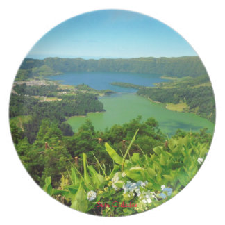 Sete Cidades Azoren Panorama-Platte Teller
