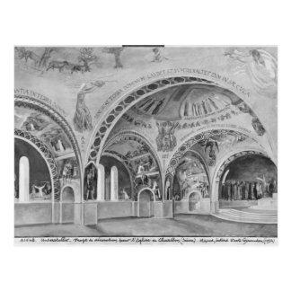 Setentwurf für die Kirche von Chatillon. Postkarte