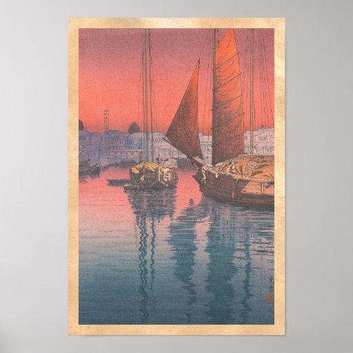 Seto inländisches Meer Tomonotsu Tsuchiya Koitsu Poster