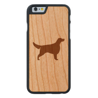 Setter-Silhouette Carved® iPhone 6 Hülle Kirsche