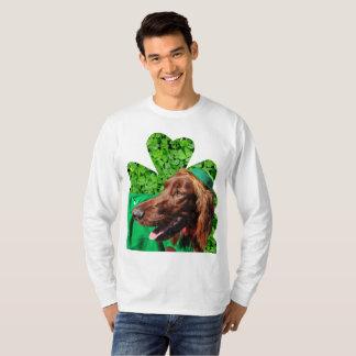 Setter-St Patrick das Fahrwerk-Hülsen-T - Shirt