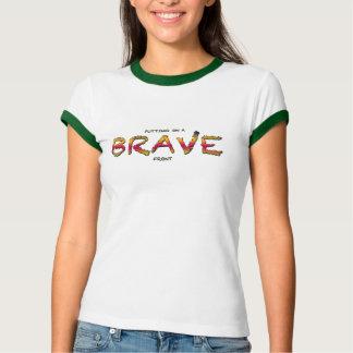 Setzen auf eine TAPFERE vordere Oberseite T-Shirt