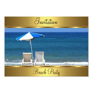 Setzen Sie 50. Geburtstags-Party auf den Strand 12,7 X 17,8 Cm Einladungskarte