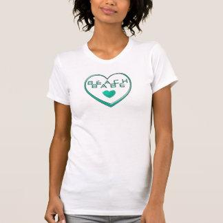 """""""Setzen Sie Baby"""" in einer offenen aquamarinen T-Shirt"""