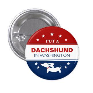 Setzen Sie Dackel in politischen Knopf Washingtons Runder Button 3,2 Cm