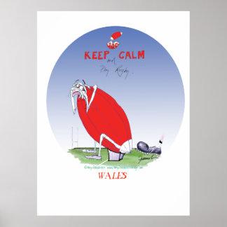 setzen Sie den Stiefel in Waliser-Rugby, tony Poster