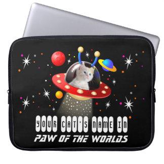 Setzen Sie Ihre Katze in einen alien-Raumschiff Laptopschutzhülle