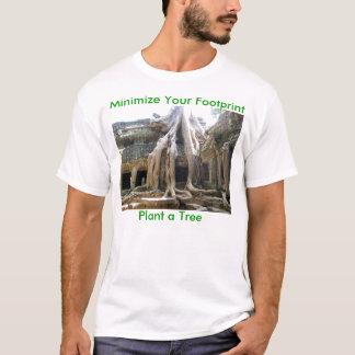 Setzen Sie Ihren Abdruck, Pflanze ein Baum herab T-Shirt