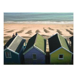 Setzen Sie Küste-Foto des Sandes der blauen Himmel Fotodruck