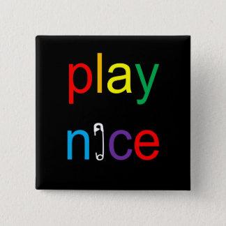 Setzen Sie Nizza Quadratischer Button 5,1 Cm