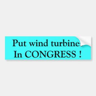 Setzen Sie Windkraftanlagen in KONGRESS ein! Autoaufkleber