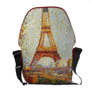 Seurat: Der Eiffelturm Kurier Tasche