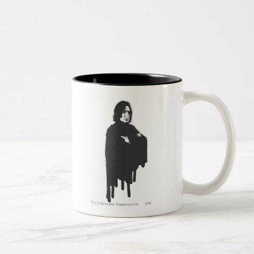 Severus Snape Arme kreuzten B-W Kaffeetasse