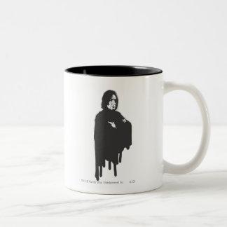 Severus Snape Arme kreuzten B-W Zweifarbige Tasse