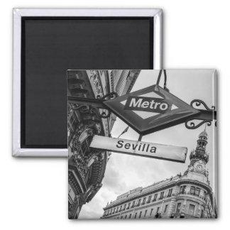 Sevilla-Metro-Magnet: Madrid Quadratischer Magnet