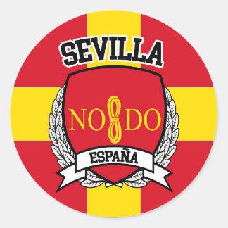 Sevilla Runder Aufkleber