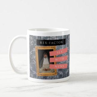 """""""Sex mit der Nonnen"""" Tasse, gemustert Kaffeetasse"""