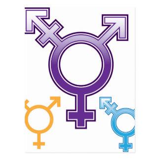 Sexualität-Symbol Postkarte