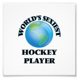 Sexyster das Hockey-Spieler der Welt Fotografie