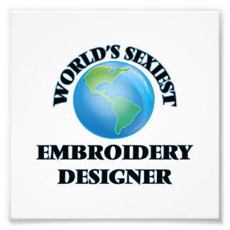 Sexyster die Stickerei-Designer der Welt Photodrucke