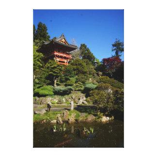 SF japanische Tee-Garten-Tempel-Tor-Leinwand Leinwanddruck