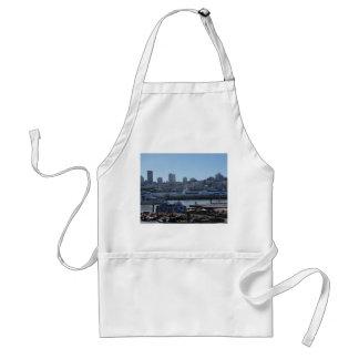 SF StadtSkyline u. Seelöwe-Schürze des Pier-39 Schürze