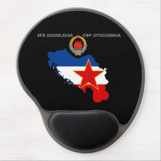 SFR Jugoslawien - Karte - Emblem - Flaggen-Gel Gel Mousepad
