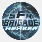 SFRBrigade Logo-Aufkleber Runder Aufkleber