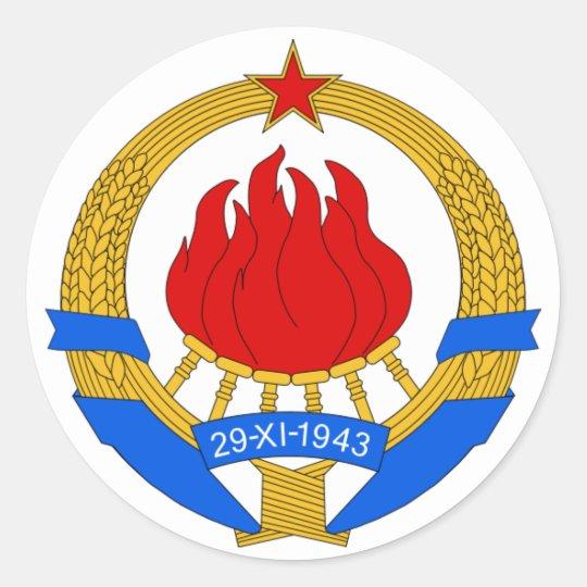 SFRJ RUNDER AUFKLEBER