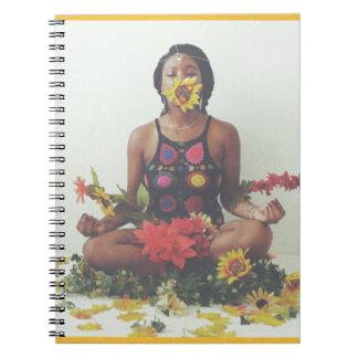 Sha Davis Meditations-Blumenmuster Spiral Notizblock