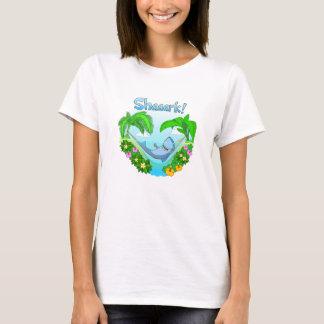 Shaaark in einem Hängemattendamen-Weiß T - Shirt