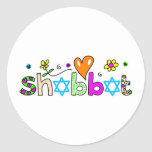 Shabbat Runde Aufkleber