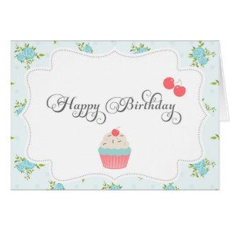 Shabby Chic-alles- Gute zum Geburtstagkarte Karte