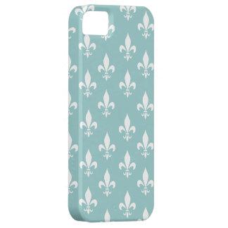 Shabby Chic-Aqua-blaues Lilien-Muster iPhone 5 Schutzhülle