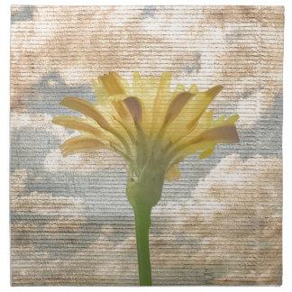 Shabby Chic-Art-Blume über blauer Himmel-Foto Stoffserviette