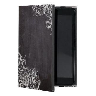 Shabby Chic blühen Wirbelstafelmonogramm iPad Mini Etuis