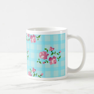 Shabby Chic, Blumendekoration Kaffeetasse