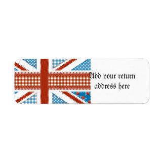 Shabby Chic, britische Flagge, Patchwork, Land,