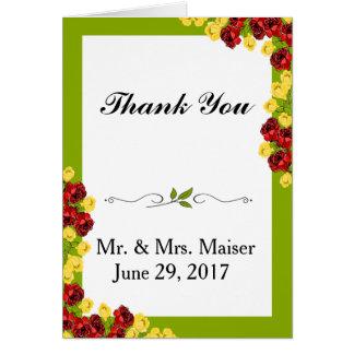 Shabby Chic-danken Blumentulpe-Rosen-Blume Ihnen Karte