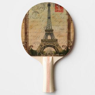 Shabby Chic moderner Vintager Turm Paris Eiffel Tischtennis Schläger