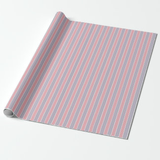 Shabby Chic-Rosa u. Flieder Striped Geschenkpapier
