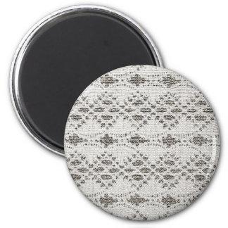 Shabby Chic-Vintage Spitze-Entwürfe Runder Magnet 5,1 Cm
