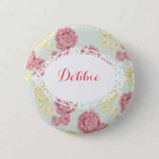 Shabby Chic-Vintages Blumen- und Runder Button 5,7 Cm