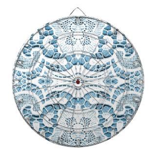 Shabby Chicblumenaqua blaue böhmische Chicspitze Dartscheibe