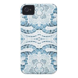 Shabby Chicblumenaqua blaue böhmische Chicspitze iPhone 4 Case-Mate Hülle