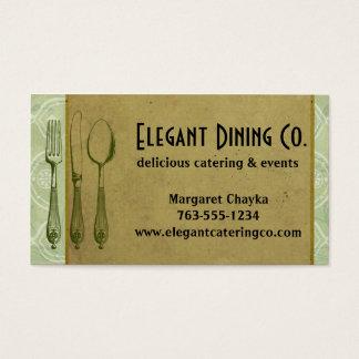 Shabby Chicgabelmesserlöffel-Kochs-Geschäftskarten Visitenkarte