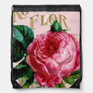 Shabbychic Paris Collagen-Rose Turnbeutel